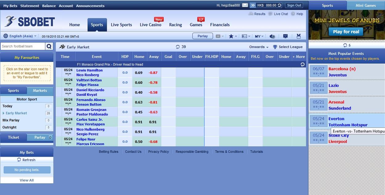 Malaysia Sports Betting - Sportsbook & Online Betting
